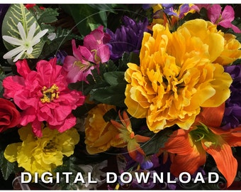 Flower Clipart | Floral Digital Clipart Photo | Stock Photography | Instant Download Stock Photos | Yellow Orange Pink | Floral 05
