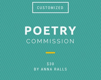 Customized Poetry Commission, unframed