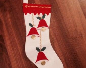 Vintage Felt Christmas Stocking