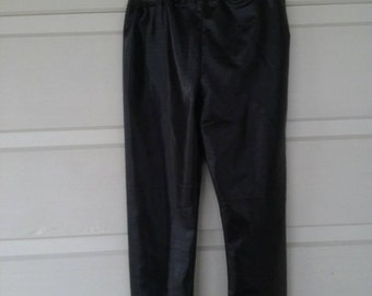 Shiny Leather Look Pants