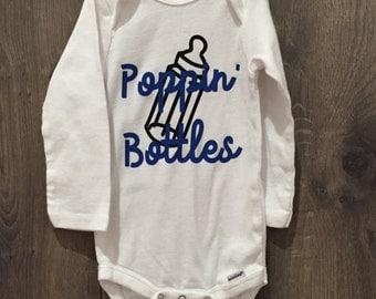 Poppin' Bottles Onesie White Bodysuit Baby Boy