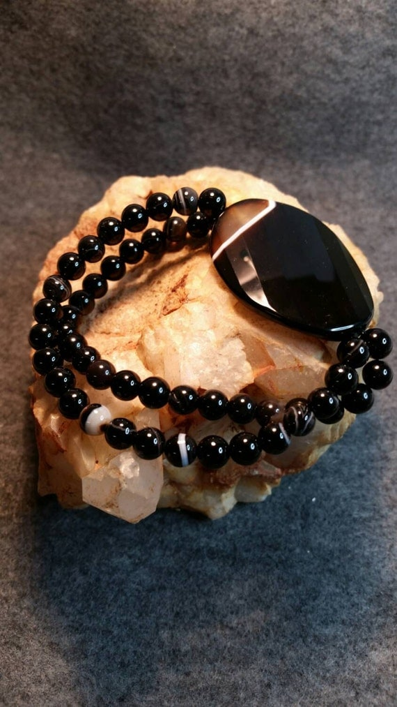 Black Onyx Stretch Bracelet