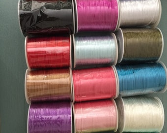 100 yards Satin Rattail Cord 2mm shamballa nylon macrame kumihimo string