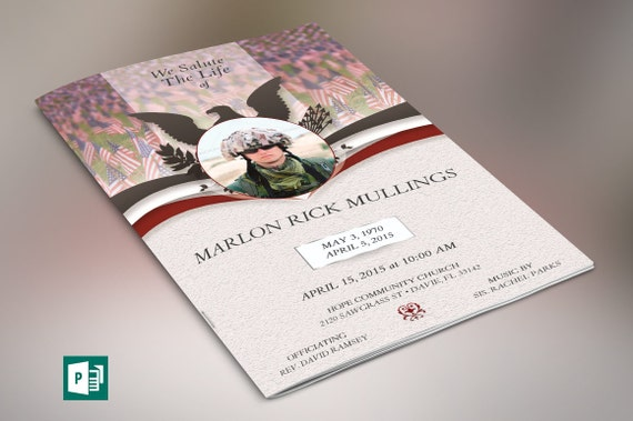 american marine funeral program publisher template