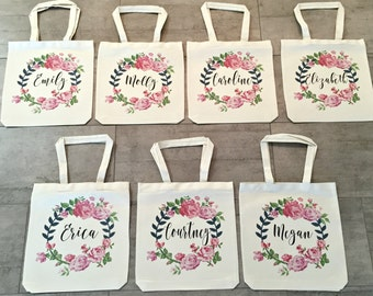 Bridesmaid Totes (set of 7)