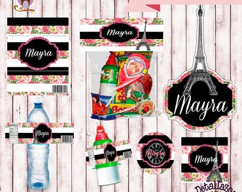 Printable Kit Paris Shabby