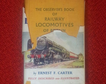 The Observer's Book Of Railway Locomotives Of Britain By Ernest F. Carter 1955