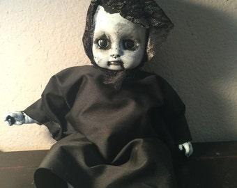 Salem creepy Gothic dark horror doll
