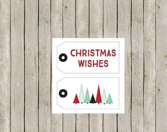 Christmas Gift Tags - Holiday Gift Tags - Christmas Tags - Holiday Tags - Christmas Tree Tags - Christmas Tree Gift Tags - Set of 30
