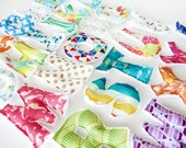 Summer, Uppercase, lowercase, fabric letters