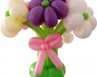 Flower Bouquet - Flower display - Balloon Flowers - Balloon - Birthday - Anniversary - Thank You - Mum - Wife - Friend - pretty - floral
