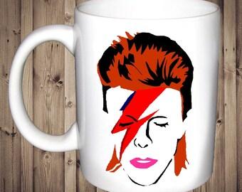 Iconic David Bowie Mug Birthday Christmas Gift Present Tea Cup