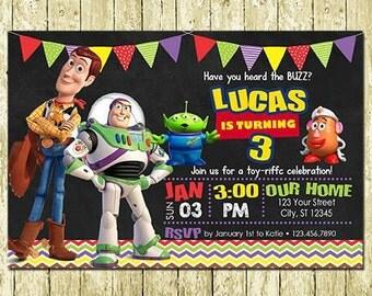 Toy Story Digital Birthday Invitations