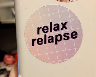 Relax Relapse Panic! at the Disco Sticker