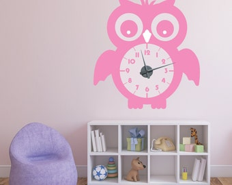 Clock Wall Decal Etsy - Wall decals clock