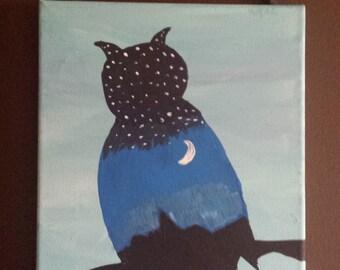Midnight Owl canvas