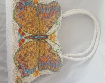 Beaded butterfly purse