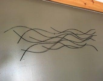 Heated Waves, metal Wall Art, wall art, industrial art