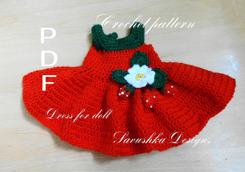Baby Turtle Amigurumi Pattern : Crochet Dress Pattern for 18 in Doll Crochet Patterns Doll
