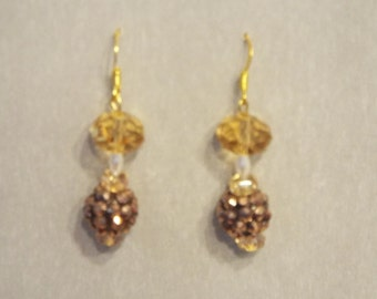 golden sparkle dangles