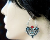 OLD TRIBAL EARRINGS - Vintage Silver Waziri Kuchi Earrings