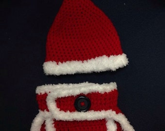 Baby Santa - Hat and diaper cover