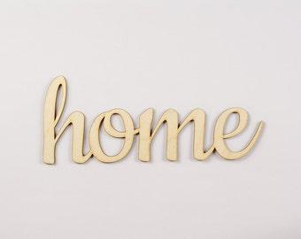 Home wooden sign - Lasercut - cutout - wedding decoration - gift - flat - house - hanger - door decor - Living room