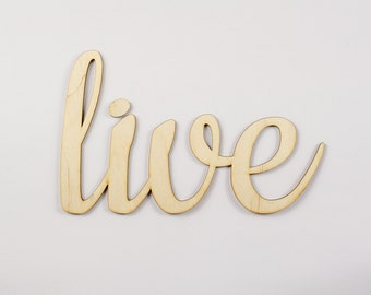 Live wooden sign - Lasercut - cutout - wedding decoration - gift - anniversary - birthday - door decor - Living room