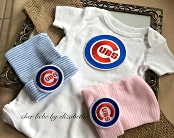 Chicago Cubs hospital hat coming home outfit, Chicago Cubs beanie, boy or girl,  free gift wrap