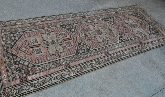 Vintage Caucasian Long rug - Hallway runner carpet - 3'9 x 9'7 - Free shipping!