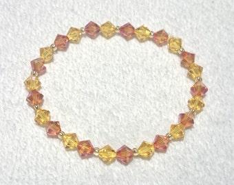 Bracelet Swarovski: orange and yellow