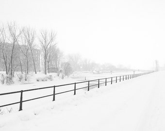 Lachine Canal Snowstorm - Black & White - Montréal - Fine Art Print - Photograph - Wall Art - Decor