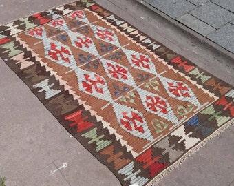 "62×39""inches, rug,rug anatolia,turksih rug,fletweave rug"