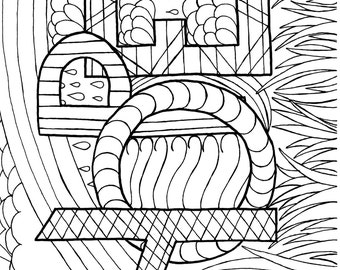 A Coloring Page of Hope