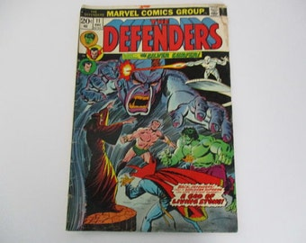Vintage Marvel Comics Group The Defenders with Silver Surfer 1973 No. 11 Comic Book