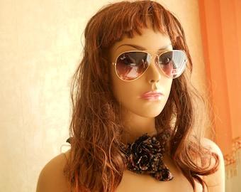 RAY BAN Aviators Sunglasses. Vintage Sunglasses. Ray Ban Styles Sunglasses. Made in Italy