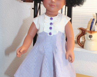 Purple and white swing dress
