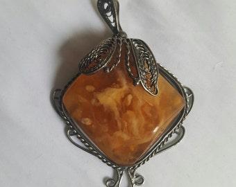 I said Russian amber vintage filigree
