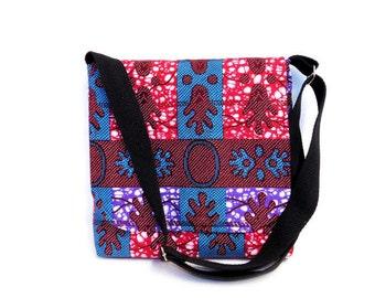 African Print Messenger Bag - Ankara Cross Body Bag - Fabric Messenger Bag - Handmade Bag - Cross Body Bag