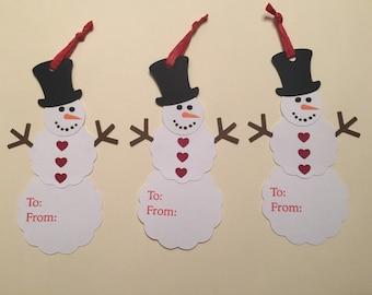 Whimsical Snowman Tags