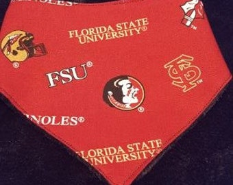 Florida State University Bandana Bib With Minky Backing