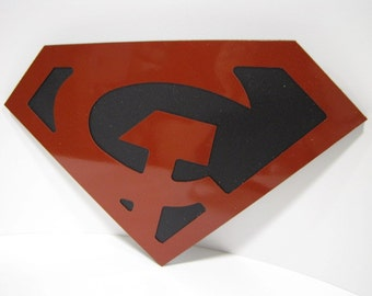 Red Sun Superman Wall emblem