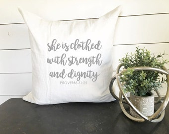 Strength and Dignity Pillow Cover_kids room_little girl room_little girl decor_girls room_girl decor_ girl_ little girl_