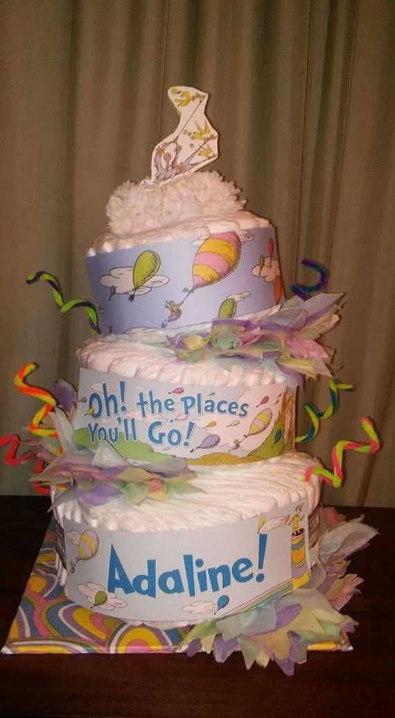 Oh The Places You Ll Go Baby Shower Cake