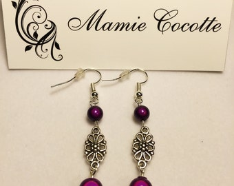 Earrings rose and pearls miracle