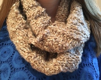 Oatmeal Infinity Knit Scarf