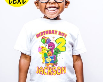 Barney and Friends Birthday Custom Shirt Personalized Barney adventure Kids Party t-shirt