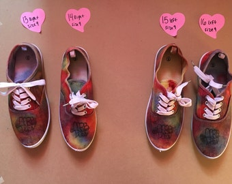 Female MRBTies Homemade Tie Dye Shoes