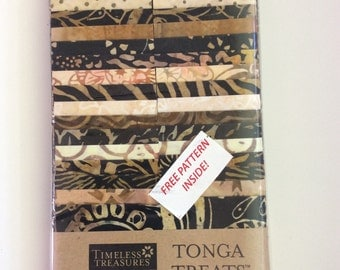 "Tonga Treat 2.5 inch strip set, ""Madrid"" Jelly Roll Quilting Fabric Batik"