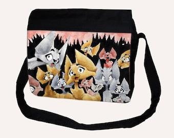 Big Shoulder Bag Milthon Infinity Cats